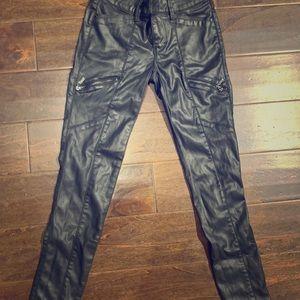 White black market Black leather pants